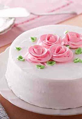 素食無蛋玫瑰香頌蛋糕8吋(含運) (2)